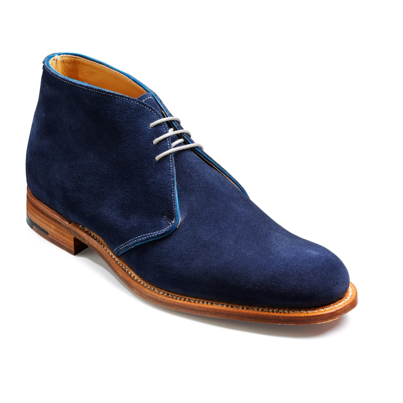 handmade navy blue suede dress boot mens suede shoes