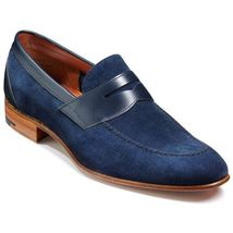 Men Navy Suede and leather shoes Mens Suede shoes, Mens Casual leather shoes - $159.99
