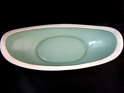 "USA Original Art Deco Style Vase Hollywood Regency St. Patty Green 12"" Long"