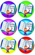 Judaica Hebrew School Shalom Kita Alef 36 Stickers Children Teaching Aid Israel