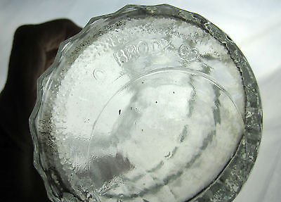 EO Brody Co. Vase Crystal Clear Pressed Glass Vintage Large Container