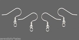 1000 SILVER Plated Surgical Steel Ear Wires Hooks w/ bead + coil  ~ 500 ... - $50.78