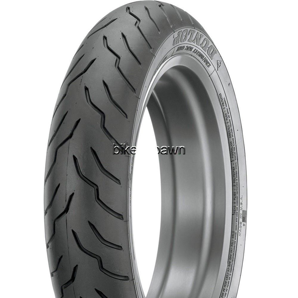 New Dunlop American Elite Blackwall 100/90-19 Front Tire