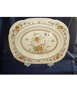 Wood and Sons Platter Springdale Pattern Yellow... - $23.39