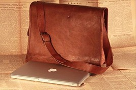 Men's Genuine Vintage Leather Messenger Shoulder Laptop Bag Leather Bag ... - $40.00