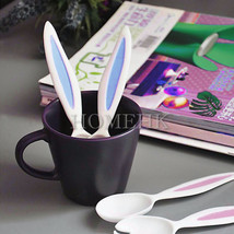 Spoon Fork Set Rabbit baby kid children toddler kitchen food dine cute t... - $2.99