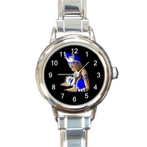 Ladies Round Italian Charm Bracelet Watch Zeta Phi Beta Gift model 30180806