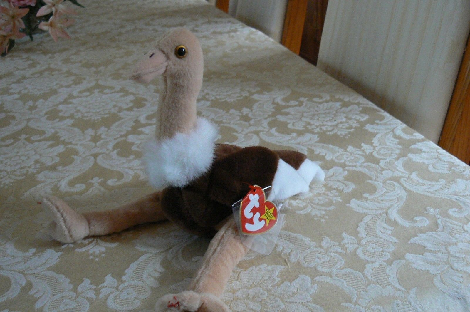 "Rare Ty Original Beanie Babies ""Stretch"" The Ostrich - Retired Errors 1997 Mint"