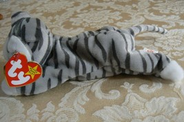 "Rare Ty Original Beanie Babies ""Prance"" The Grey Stripe Cat/Retired Errors Mint image 2"