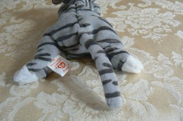 "Rare Ty Original Beanie Babies ""Prance"" The Grey Stripe Cat/Retired Errors Mint image 3"