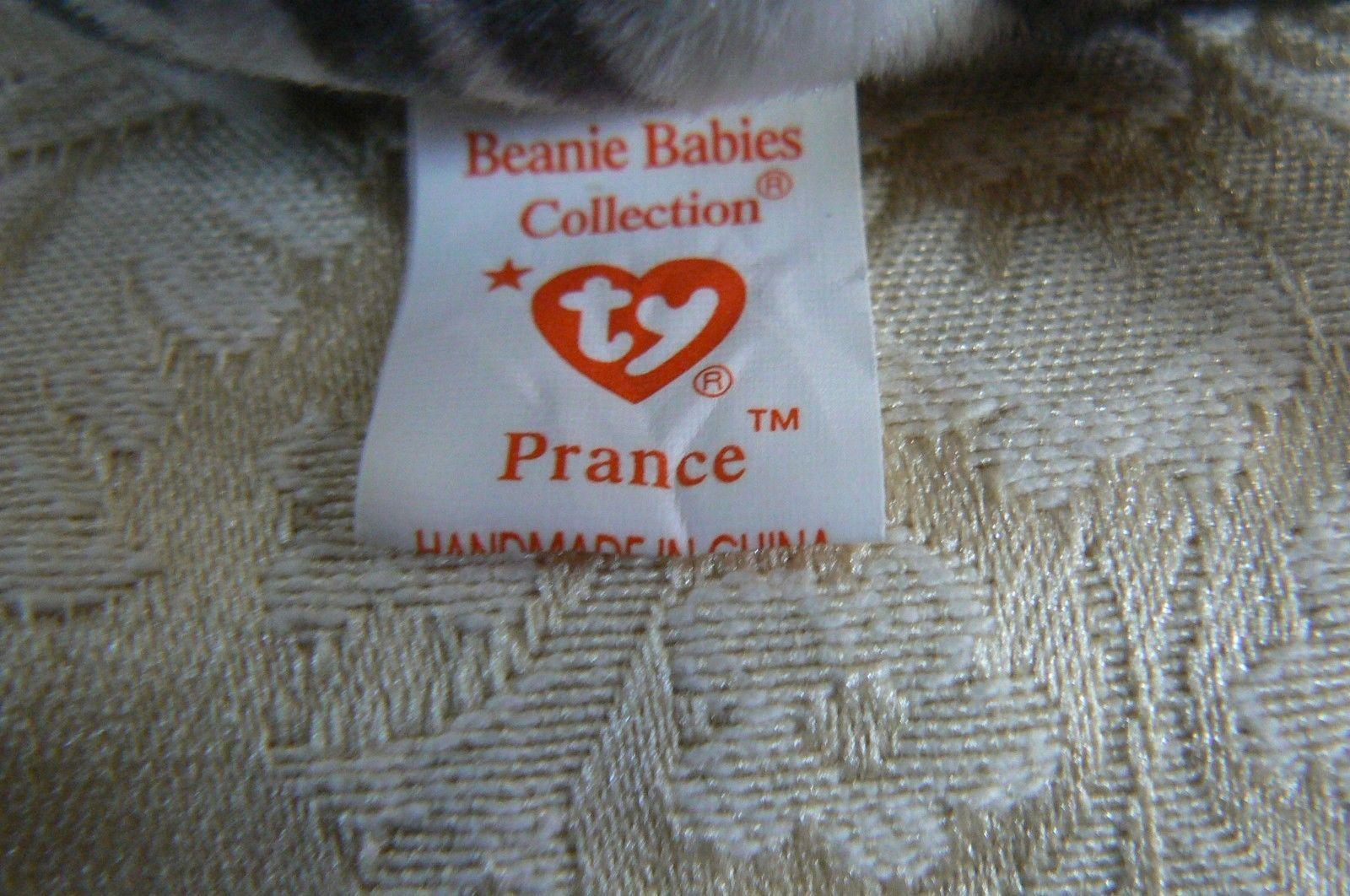 "Rare Ty Original Beanie Babies ""Prance"" The Grey Stripe Cat/Retired Errors Mint image 6"