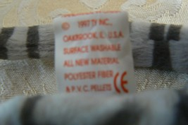 "Rare Ty Original Beanie Babies ""Prance"" The Grey Stripe Cat/Retired Errors Mint image 7"