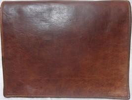 """15""""New Men's Vintage Leather Full Flap Messenger Laptop Satchel Shoulder Bag - $58.75"""