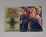 COSTUME CARD: Lord of the Rings Fellowship of the Rings Pippin's Travel Cloak