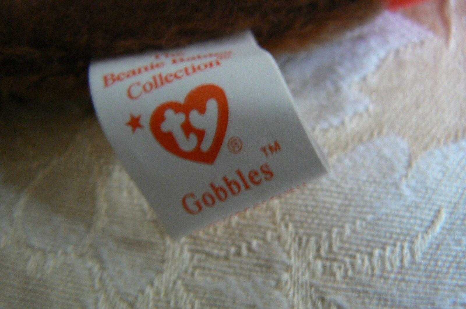 "Rare Ty Original Beanie Babies ""Gobbles"" The Turkey/Retired Errors Mint image 9"