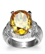 Topaz Swarovski Element Crystal Ring Vintage Ring Great Gift (A grade) - $18.50