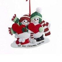 Our First Christmas Together Snow Couple Ornament D2486 Kurt Adler - £10.04 GBP