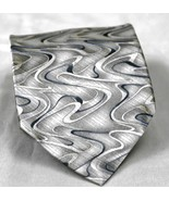 Arrow 100% Silk Men's Necktie Tie Swirl Design Silver Gray - $6.66