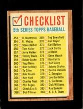 1962 Topps #367 Checklist 353-429 Vg+ *XR22015 - $2.75