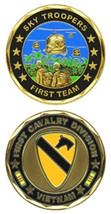 VIETNAM SKY TROOPERS FIRST 1ST CAVALRY CHALLENGE COIN - $16.24