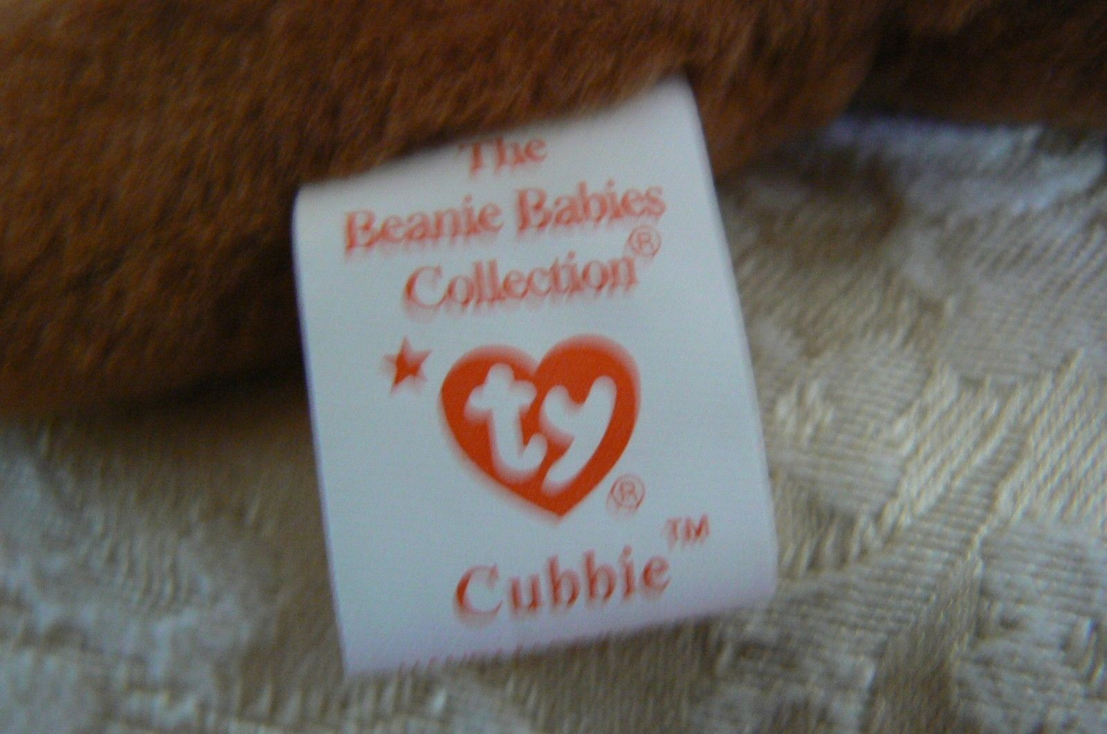 "Rare Ty Original Beanie Babies "" Cubbie "" The Brown Bear /Retired Errors Mint  image 6"