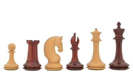 "New CB Red Rum Luxury Staunton Chess Pieces in Bud Rose/Box Wood-4.4"" VJ084 - $512.99"