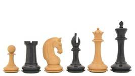 "CB Red Rum Luxury Staunton Series Chess Pieces in Ebony/Box Wood-4.4"" King VJ085 - $512.99"