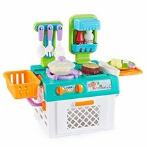 Think Gizmos Portable Pretend Play Cooking Sets for Kids with (Kitchen Set) - $32.52