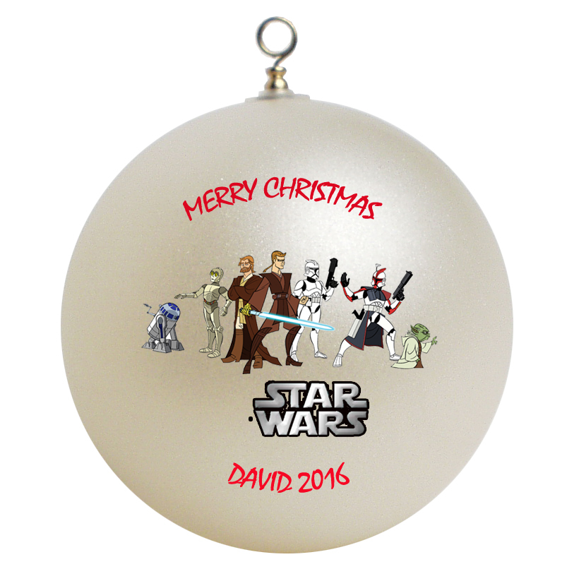Personalized star wars christmas ornament gift ornaments
