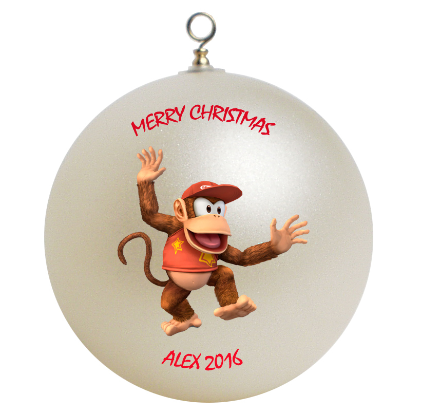 Personalized Diddy Kong Christmas Ornament Gift