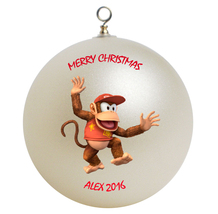 Personalized Diddy Kong Christmas Ornament Gift - $24.95