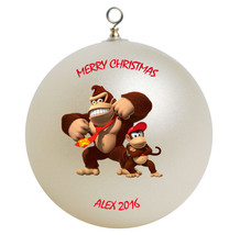 Personalized Donkey Kong and Diddy Kong Christmas Ornament Gift - $16.95