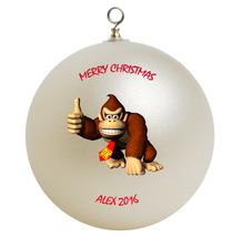 Personalized Donkey Kong Christmas Ornament Gift - $16.95
