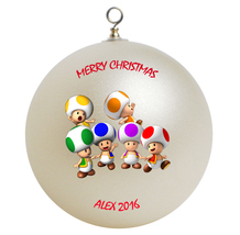 Personalized Super Mario Toads Christmas Ornament Gift - $16.95