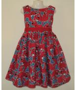 NEW Handmade Clifford The Big Red Dog W/Colorful Dots Dress Custom Sz 12... - $59.98