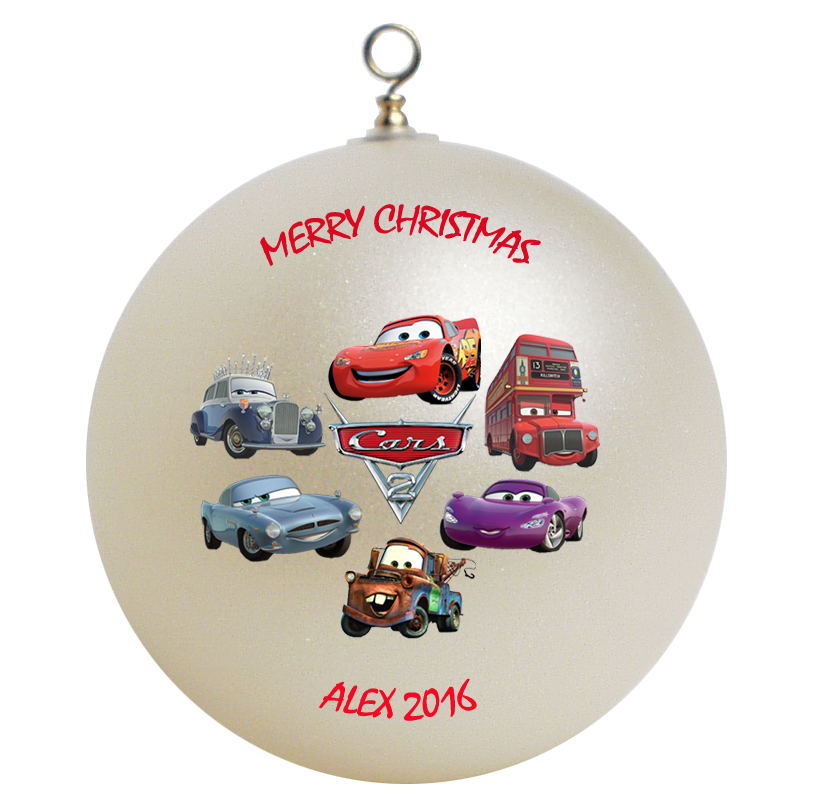 Personalized Cars Christmas Ornament Gift