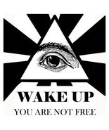 Wake Up You Are Not Free Men's Women's Unique Custom Printed White T-Shirt - $19.95