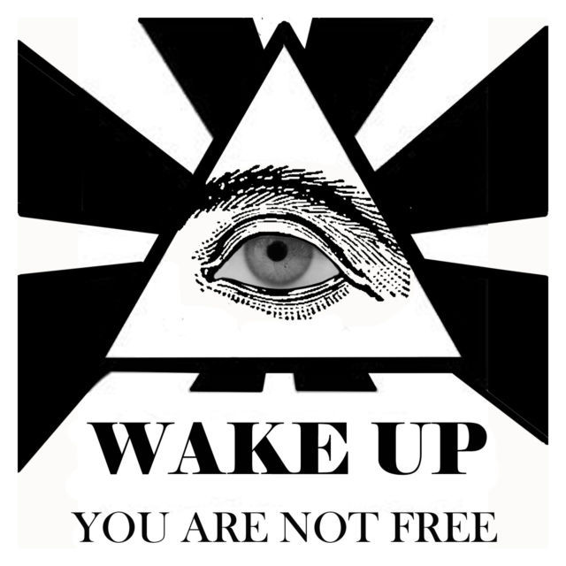 Wake Up You Are Not Free Eye Men's Women's Unique Custom Printed White T-Shirt