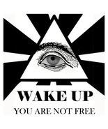 Wake Up You Are Not Free Eye Men's Women's Unique Custom Printed White T... - $19.95