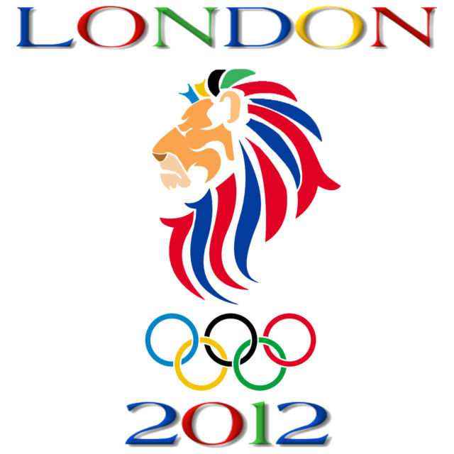 London 2012 Olympic Games Lion Profiel Men's Women's Custom White  T-Shirt