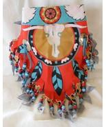 Beaded fringed bandana with conchos - $9.99