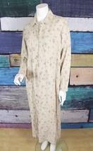 New Talbots 8 Beige Floral 100% Linen Jumper Maxi Prairie Dress Modest L... - $69.29