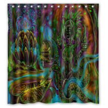 Psychedelic #04 Shower Curtain Waterproof Made From Polyester - $31.26+