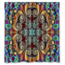 Psychedelic #07 Shower Curtain Waterproof Made From Polyester - $31.26+