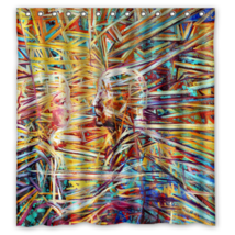 Psychedelic #10 Shower Curtain Waterproof Made From Polyester - $31.26+