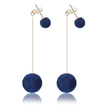 Fashion 2019 New Simple Plush Ball Drop Earrings For Women Korea persona... - $14.80