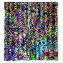 Psychedelic #14 Shower Curtain Waterproof Made From Polyester - $31.26+