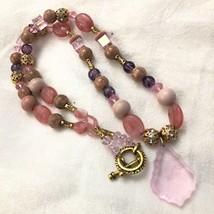 Vintage Made with Swarovski Crystals Faux Gemstone Necklace Statement Ne... - $135.00