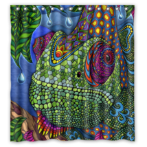 Psychedelic #22 Shower Curtain Waterproof Made From Polyester - $31.26+