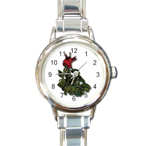 Ladies Round Italian Charm Watch Under the Mistletoe Giftt model 30332371